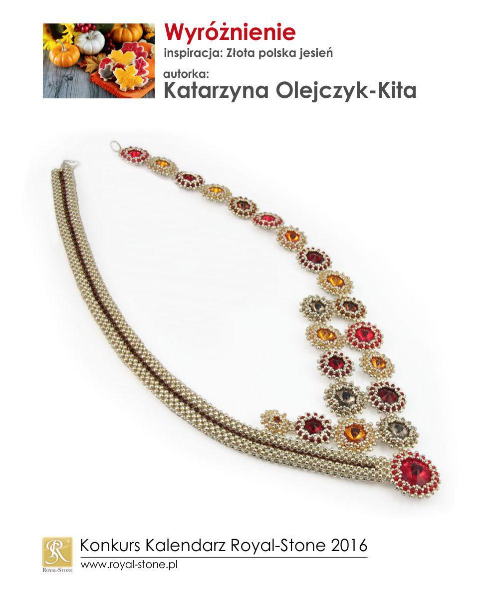 Złota polska jesień wyróżnienie Katarzyna Olejczyk-Kita biżuteria beading Royal-Stone