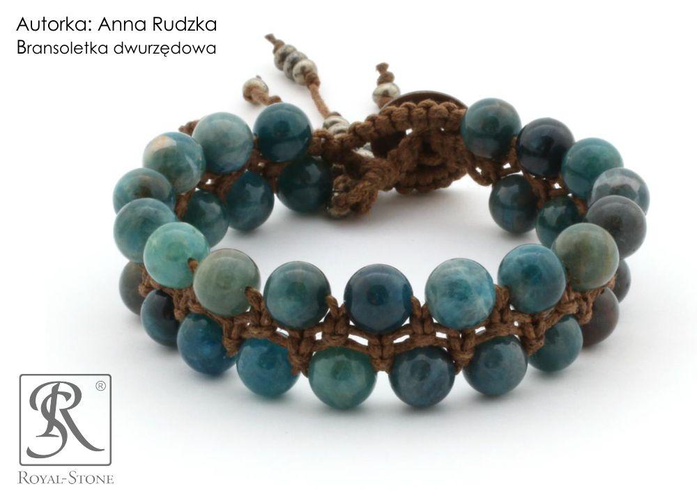 02b Royal-Stone branspoletka z makramy makrama dwurzędowa Anna Rudzka