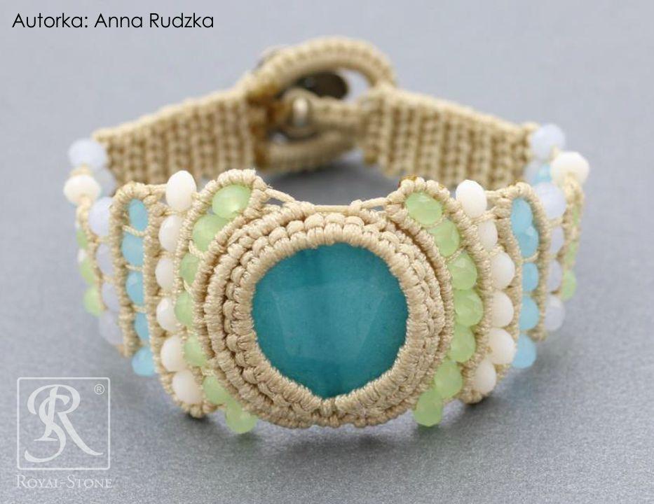 Royal-Stone. Bransoletka ze sznurka nylonowego, autorka Anna Rudzka