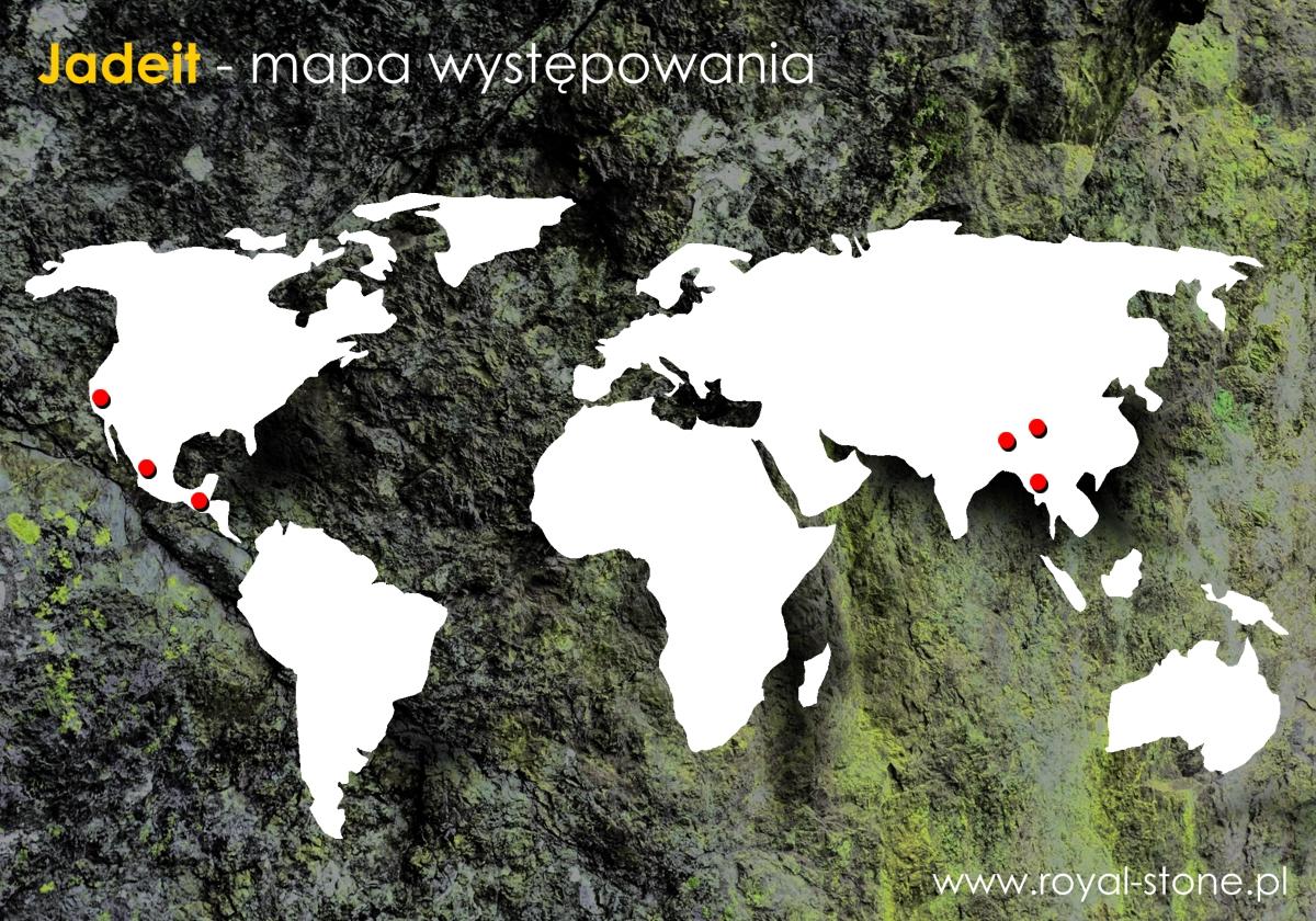 Jadeit Royal-Stone mapa występowania