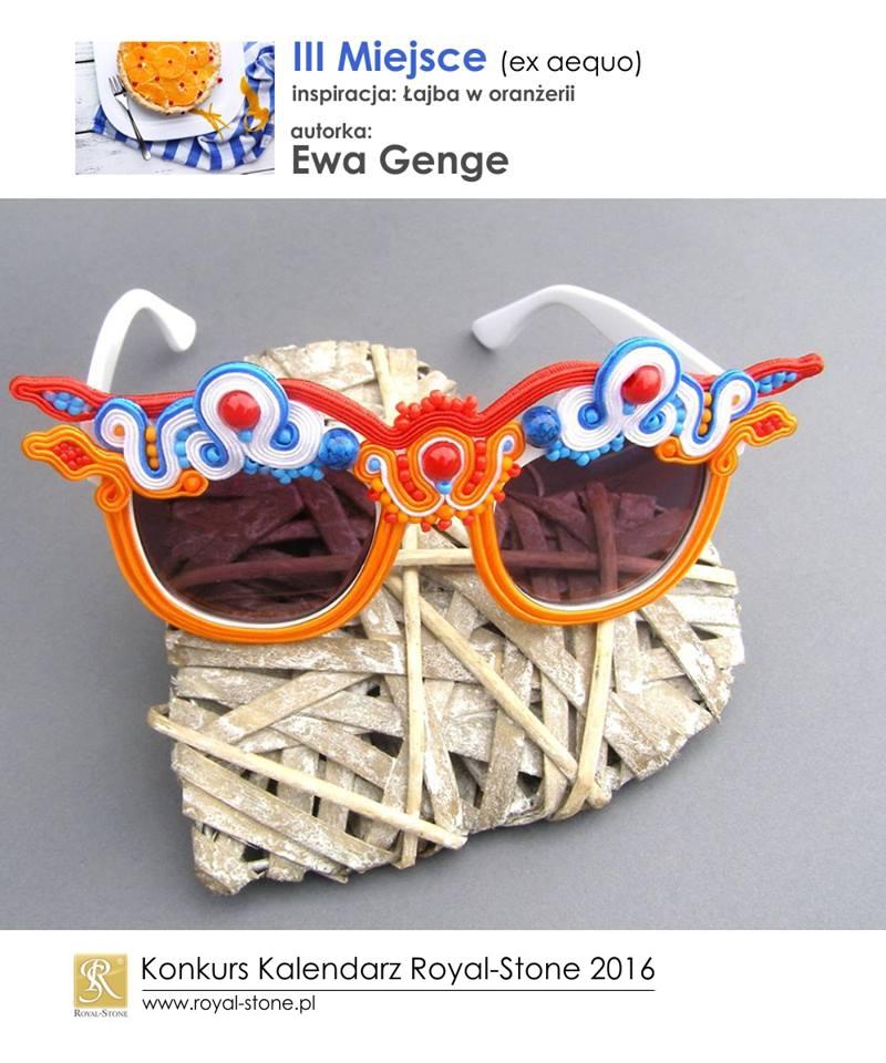 Ewa Genge III miejsce ex aequo Konkurs biżuteryjny Kalendarz Royal-Stone 2016 inspiracja Łajba w oranżerii sutasz soutache okulary