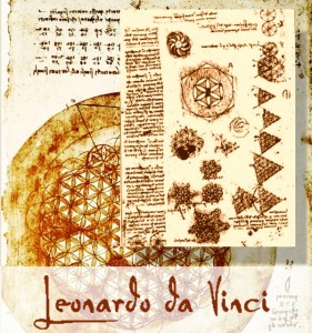 Leonardo da Vinci Kwiat życia Flower of life draw
