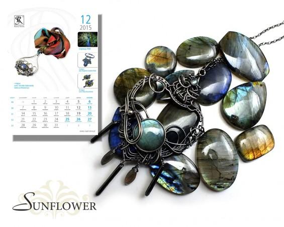 001 Kartka z Kalendarza Royal-Stone grudzień 2015 Kornelia Kubinowska Sunflower okładka