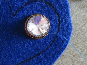 Zawieszka serce Bluefairy joanna Mendyka Royal-Stone tutorial