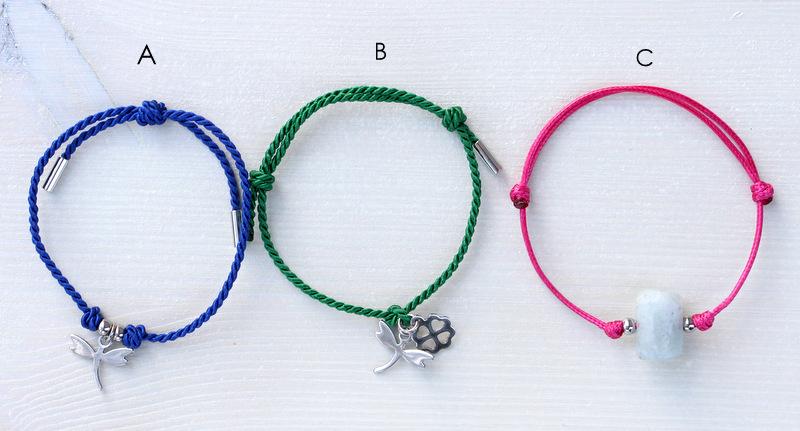 bransoletki z węzłem przesuwnym
