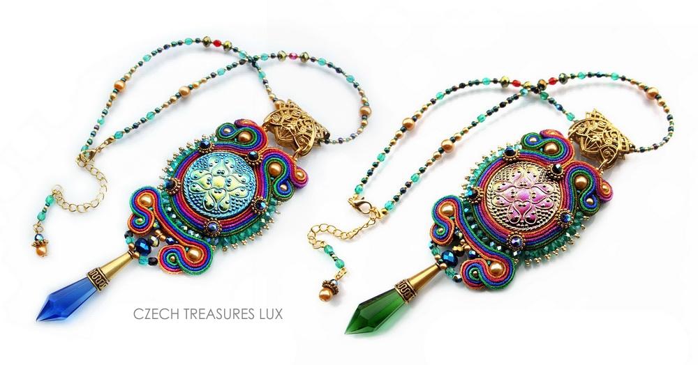 45 - Czech Treasures Lux Blue & Green