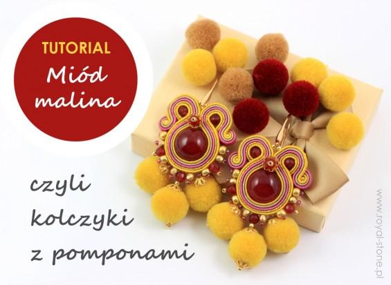 Miód_malina2_kolczyki_z_pomponami