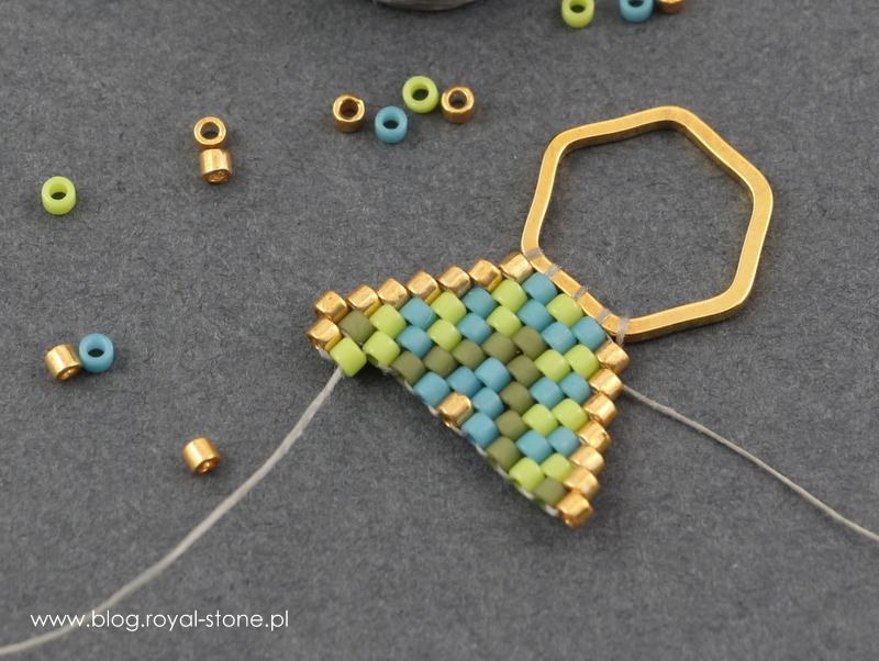 Anqu kolczyki brick na bazie geometrix