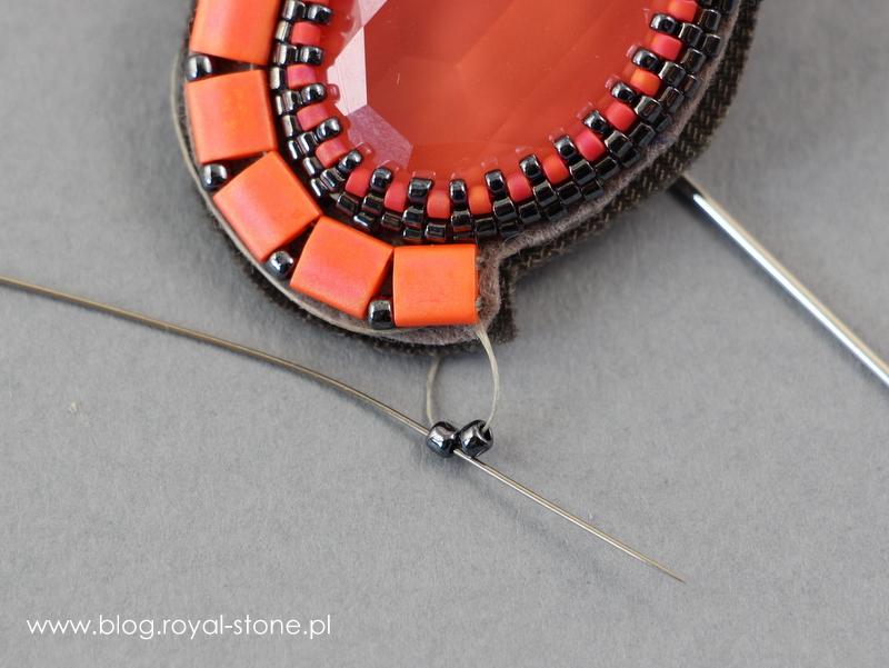 Volcano broszka z kryształem Oval Swarovski tutorial