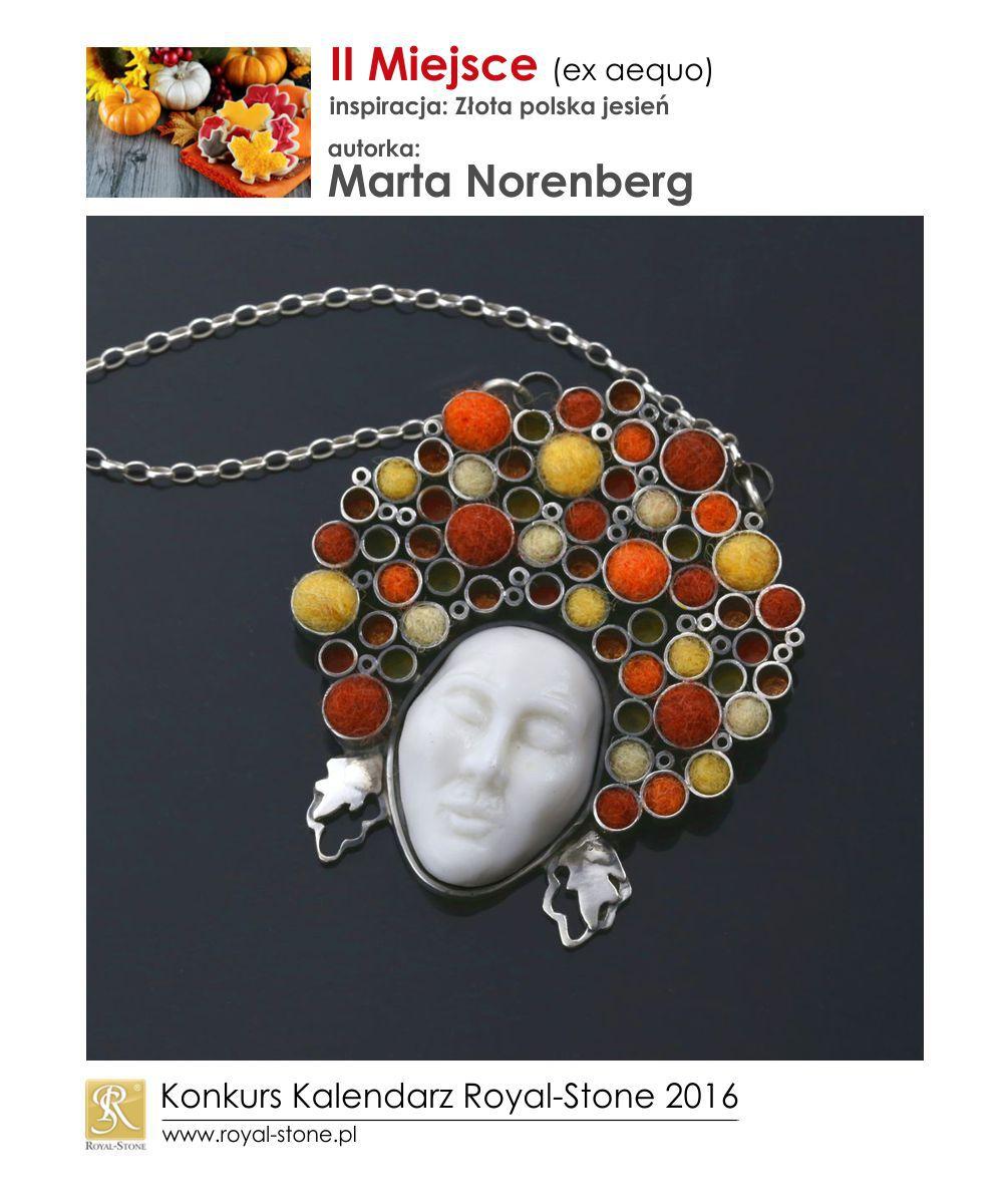 Złota polska jesień II miejsce Marta Norenberg biżuteria srebro Royal-Stone