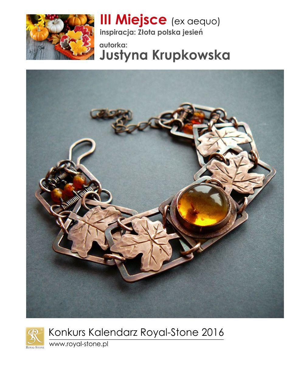 Złota polska jesień III miejsce Justyna Krupkowska biżuteria miedź Royal-Stone