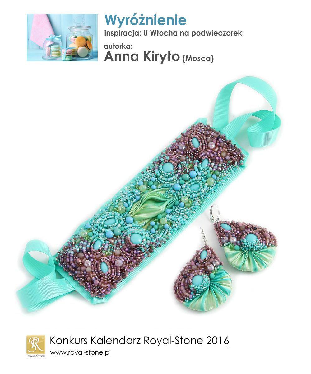 U Włocha na podwieczorek Wyróżnienie Anna Kiryło biżuteria shibori beading Royal-Stone