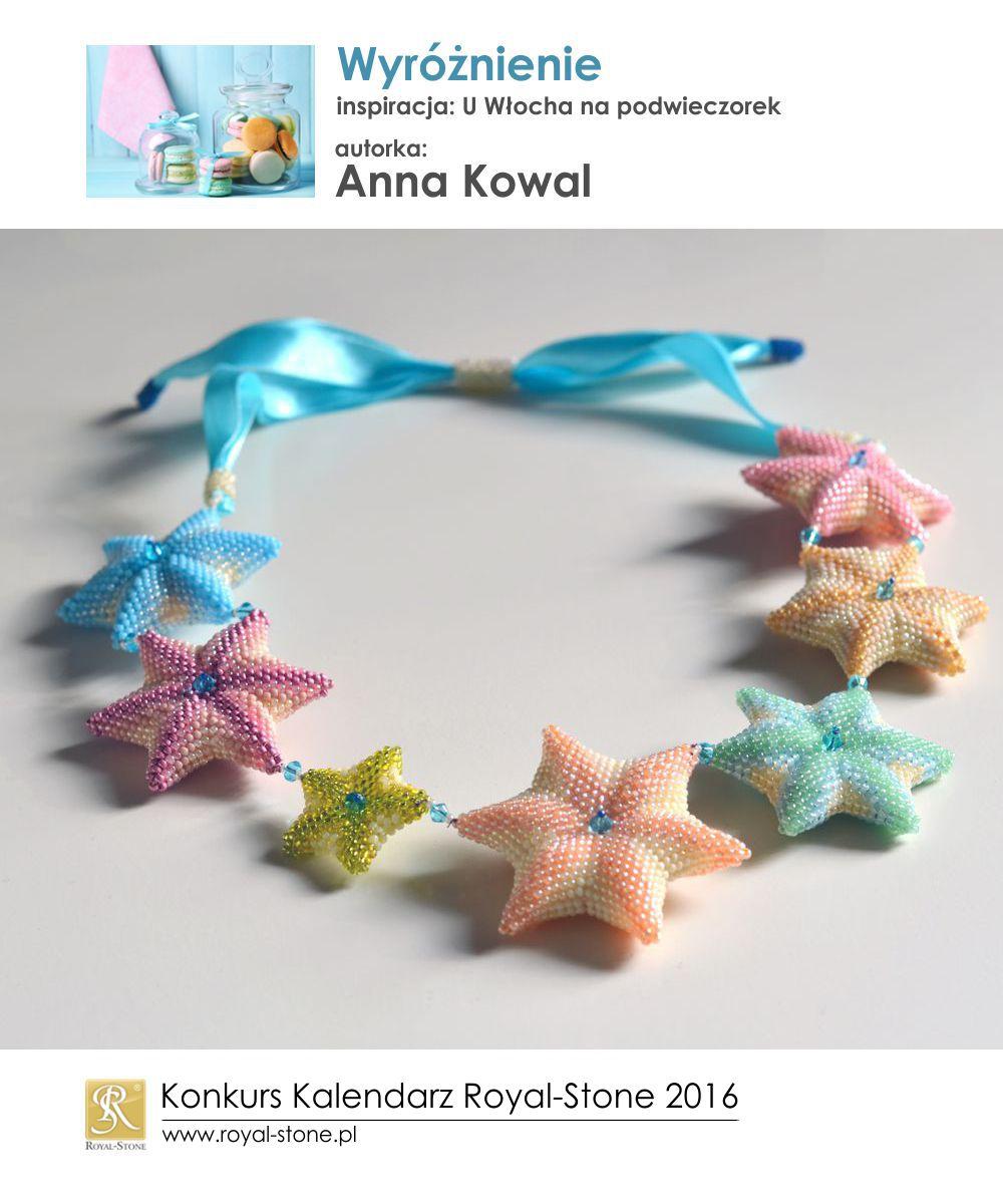 U Włocha na podwieczorek Wyróżnienie Anna Kowal biżuteria beading Royal-Stone