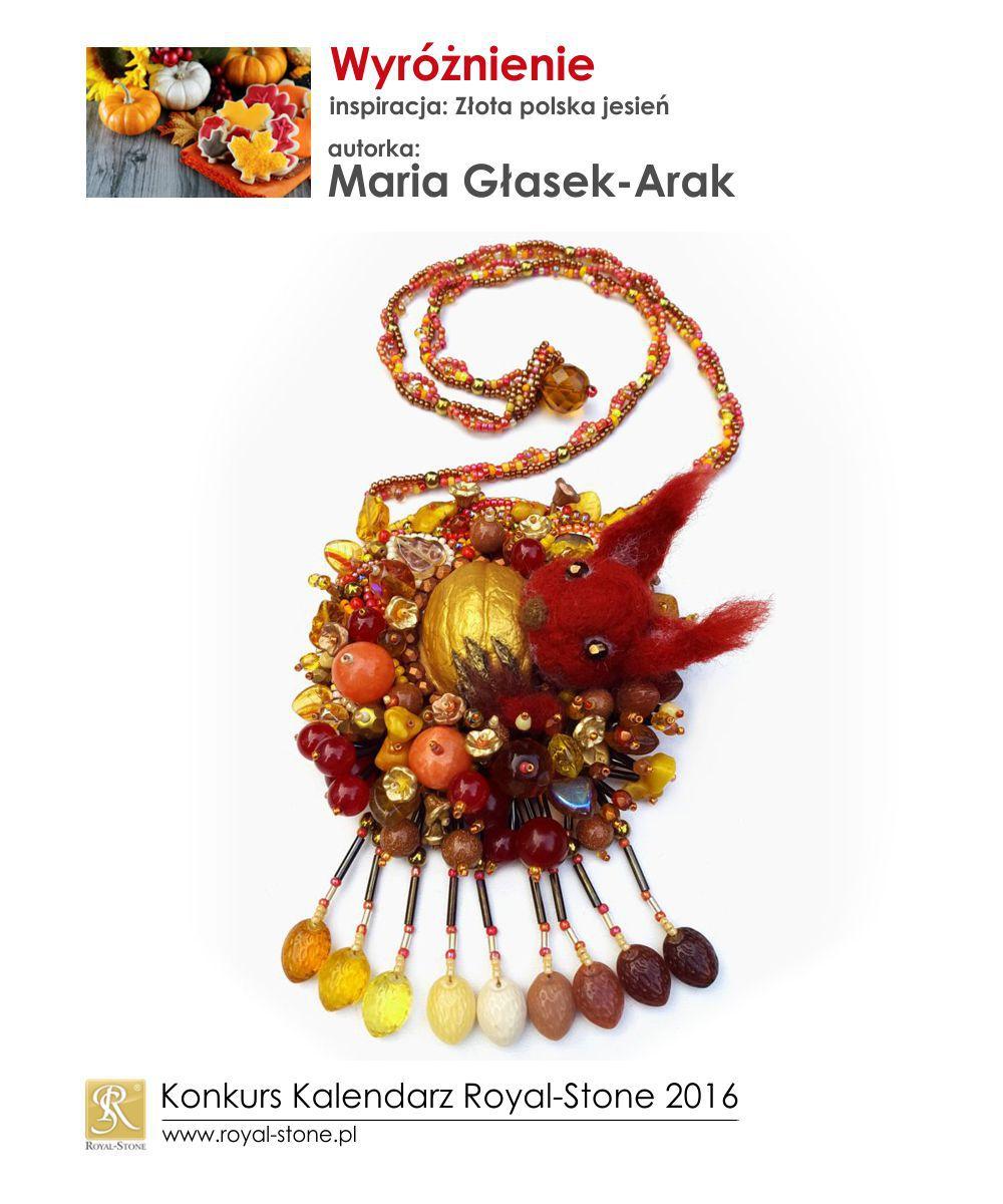 Złota polska jesień wyróżnienie Maria Głasek-Arak biżuteria Royal-Stone