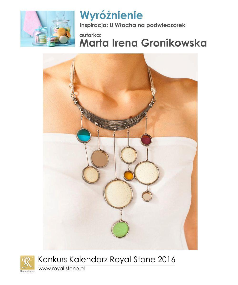U Włocha na podwieczorek Wyróżnienie Marta Gronikowska biżuteria metal Royal-Stone