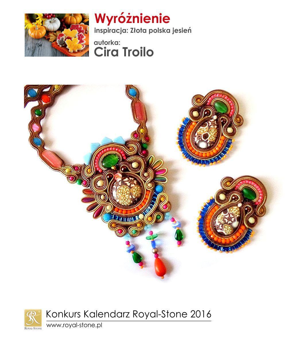 Złota polska jesień wyróżnienie Cira Troilo biżuteria sutasz soutache Royal-Stone