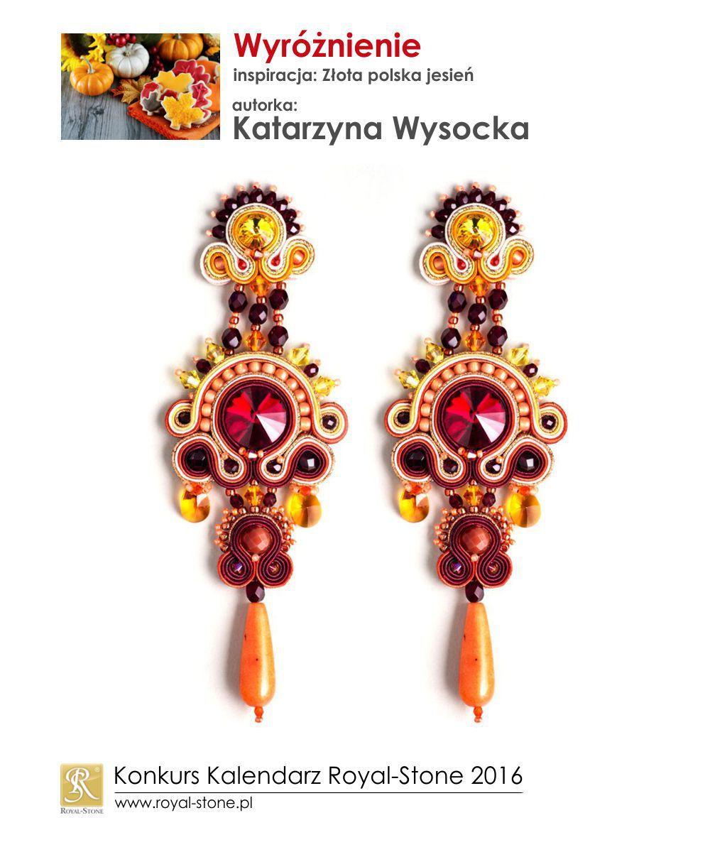 Złota polska jesień wyróżnienie Katarzyna Wysocka biżuteria sutasz soutache Royal-Stone