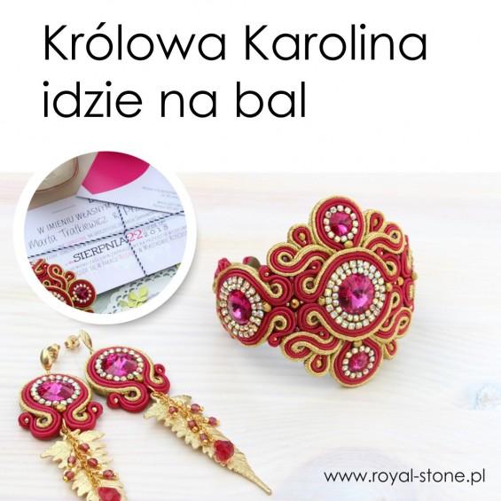 Królowa Karolina idzie na bal biżuteria sutasz Agnieszka Rodo Rododendron