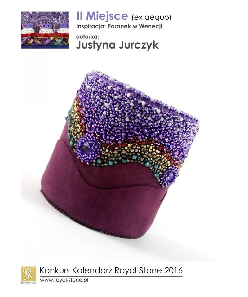 Justyna Jurczyk Ju-Ju II miejsce ex aequo Konkurs biżuteria Royal-Stone Poranek w Wenecji beading bransoletka