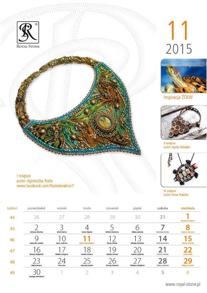 01 Kartka z Kalendarza Royal-Stone 2015 Listopad Agnieszka Rodo