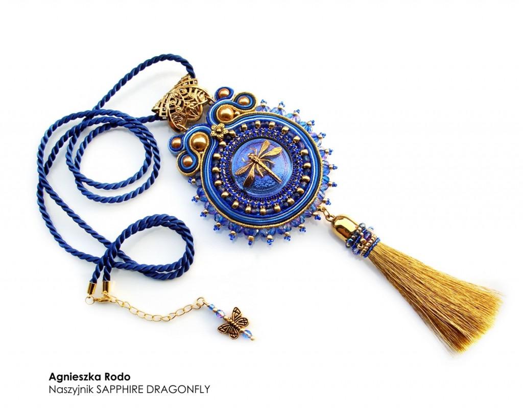 26 Agnieszka Rodo Sapphire Dragonfly Kartka z kalendarza Royal-Stone