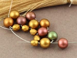 czapeczka z Round Beads tutorial