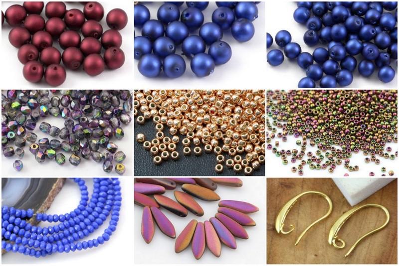 1-Velvet beads kolczyki