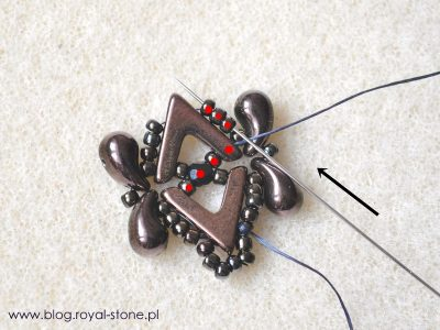 Queen's lace - bransoletka z AvaBeads i ZoliDuo - tutorial royal-stone.pl