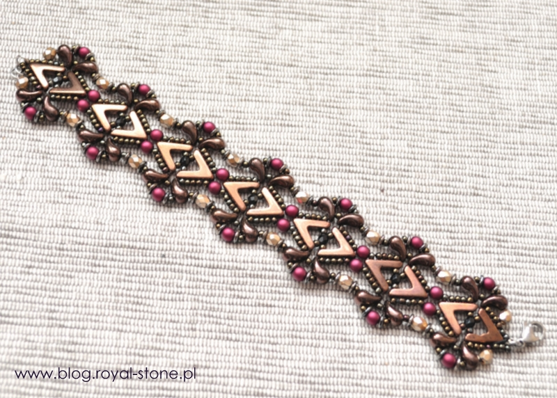 Koralikowa bransoletka  AVA beads - tutorial royal-stone