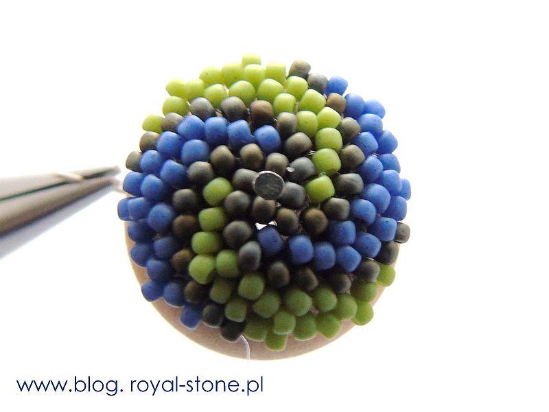 Modernity - wisior z beaded balls - tutorial royal-stone.pl