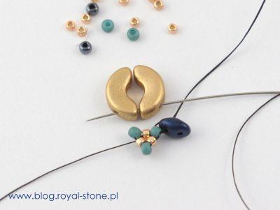 Beatrice - beadingowe kolczyki z ZoliDuo, SuperDuo, Arcos i Minos par Puca