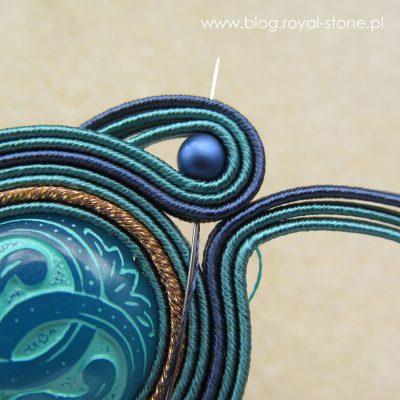 Leyla - kolczyki sutasz z koralikami Vintage Beads - tutorial Magdaleny bielskiej MAB dla royal-stone.pl