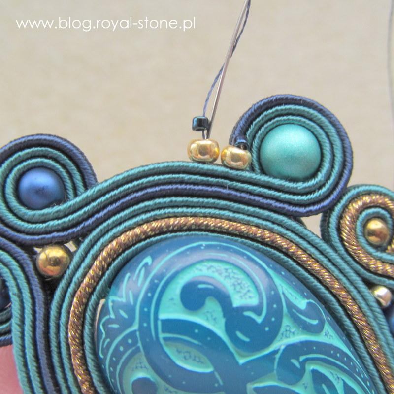 Turkusowe kolczyki sutasz z koralikami Vintage Beads - tutorial Magdaleny bielskiej MAB dla royal-stone.pl