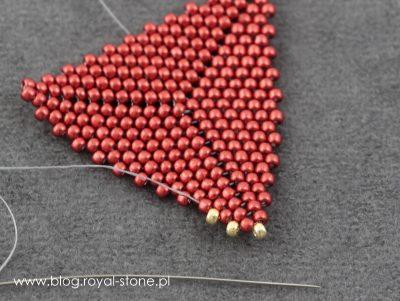 Brelok Zen z beadingowych trójkątów - tutorial