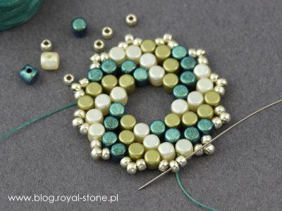 Dotti Dots - kolczyki z koralików Minos par Puca - tutorial royal-stone.pl