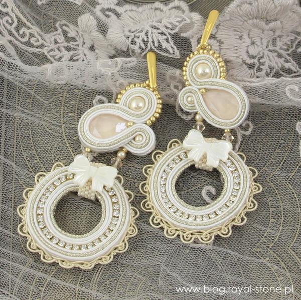 ślubne kolczyki z kryształami Swarovski i perłami Swarovski crystal prearl
