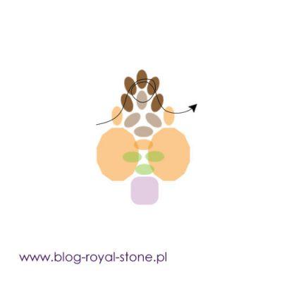 Ancaria- beadingowa broszka na szpilce