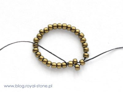 Aztec Gold - bransoletka z koralikami brick - tutorial royal-stone
