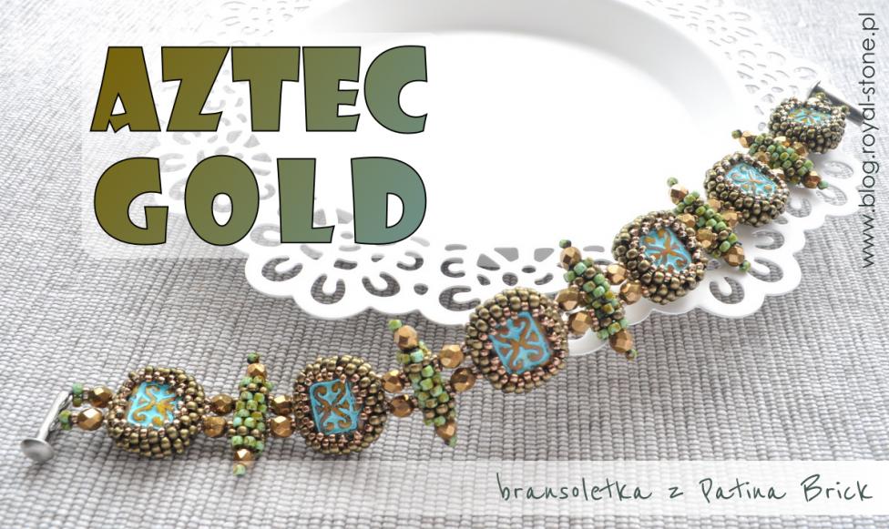 Aztec Gold – bransoletka z koralikami brick – tutorial
