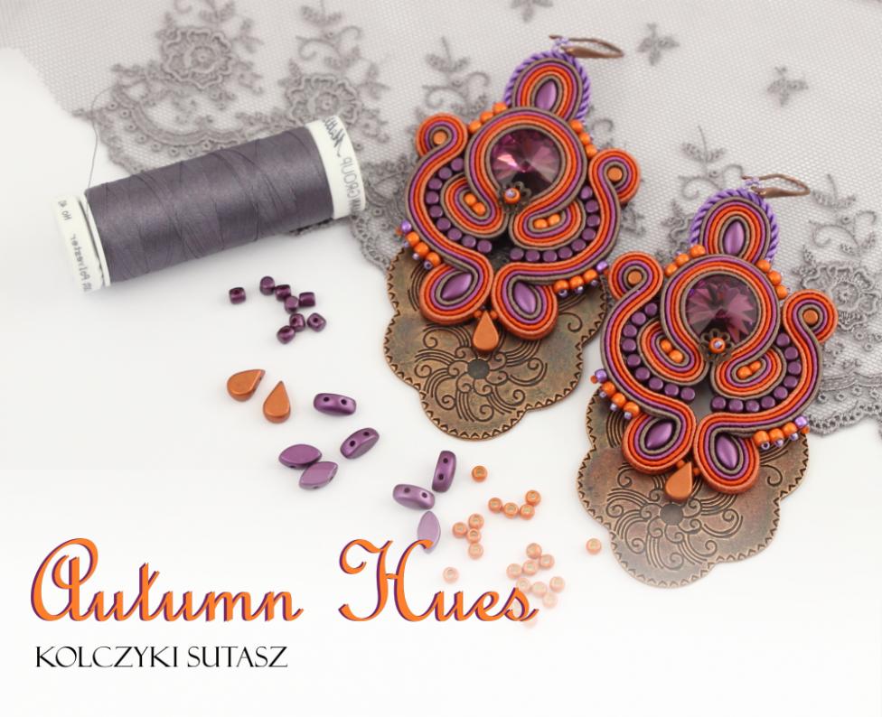 Kolczyki sutasz w jesiennych barwach – Autumn Hues Soutache Earings