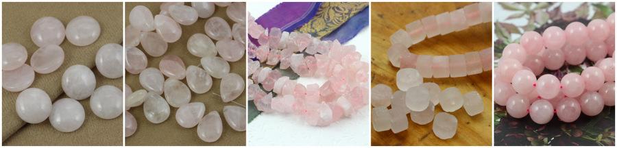kwarc różowy różne kształty