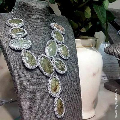 Naszyjnik jaspis zielony