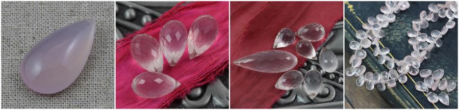 kwarc różowwy minerały krople