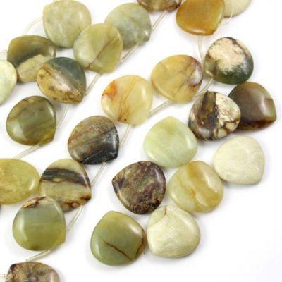 Jadeit łezka w naturalnym kolorze