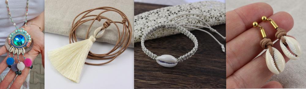 Biżuteria z muszlą Kauri