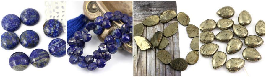 Piryt złocisty Lapis lazuli z pirytem