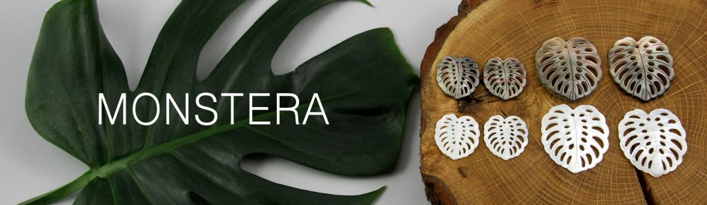 Monstera - liście z masy perłowej