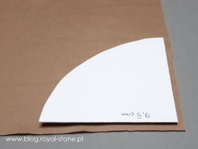 przygotuj szablon na róg jednorożca - tutorial royal-stone.pl