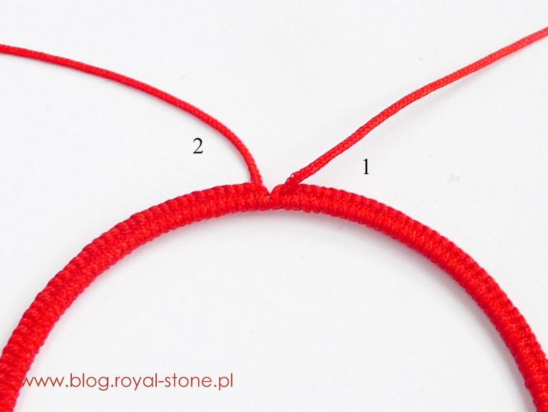 Emine - tutorial royal stone. Oplatamy bazę geometrix ścisło sznurkiem nylonowym.