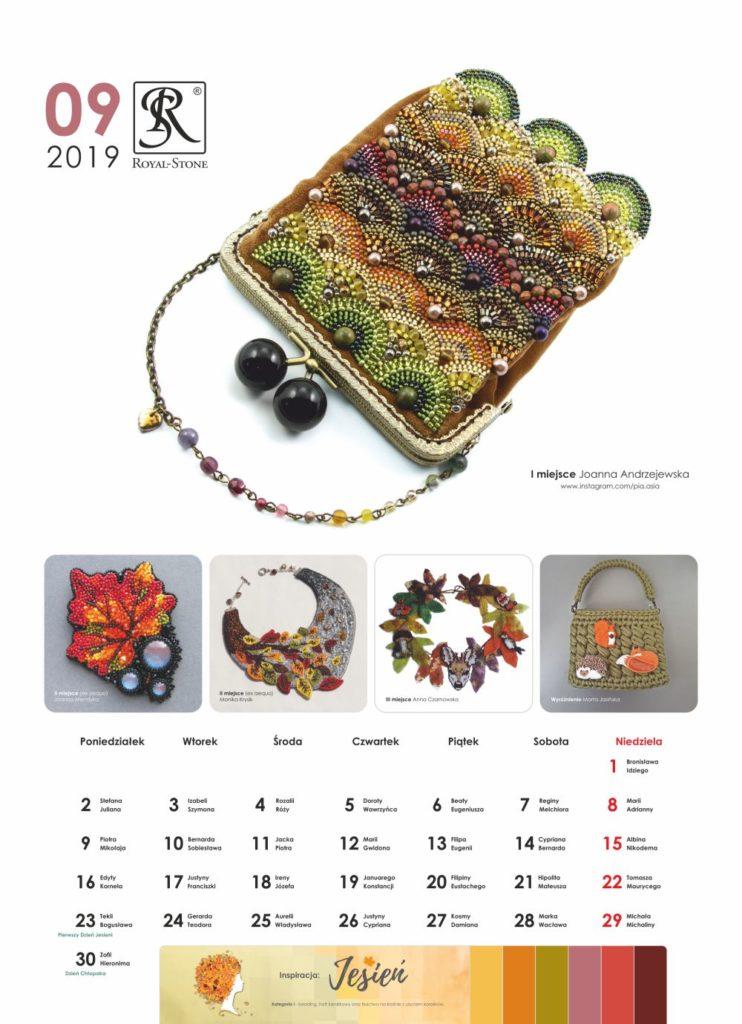 Kartka z Kalendarza biżuteryjnego Royal-Stone. Wrzesień 2019
